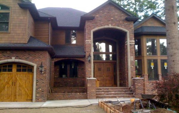 New home with artistic brick work